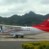 Air Tahiti flight to Tahiti and Bora Bora