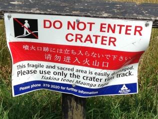 DO NOT ENTER CRATER