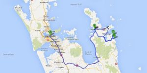 Coromandel travel route