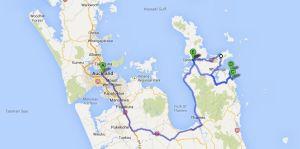 Coromandel travel route