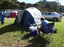 our tent and campsite