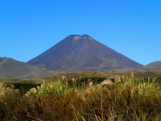 Mount Doom towering in the distance