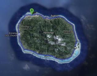 32km around the island