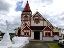 Saint Faiths Anglican church right next to a Maori village