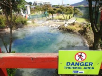 DANGER! Thermal Area! (Duh! The whole city is sitting on a bloody volcano!)