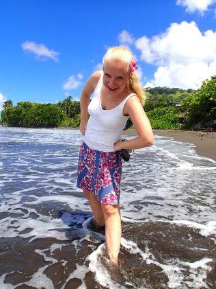 Tahiti black beach cutie