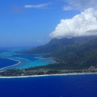 Tahiti from the air