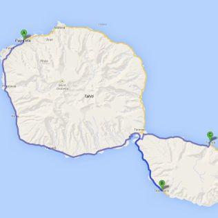 Tahiti island map