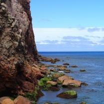 White Island shoreline