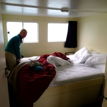 Our 'private cabin' … good thing we did not have to sleep with the riffraff below deck :-)