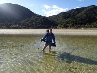 Awaroa estuary crossing