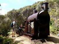 old sawmill steam engine