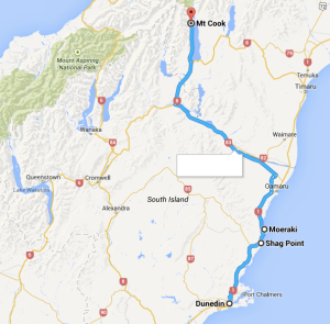Dunedin to Mt Cook