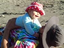 Wellington beach with Sophia