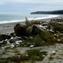 Bruce Bay stone beach