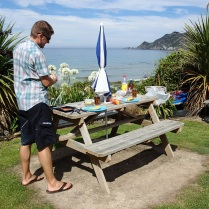 Nugget Point picnic table