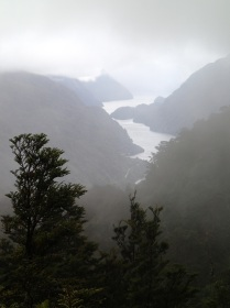 Doubtful Sound as seen from Wilmot Pass