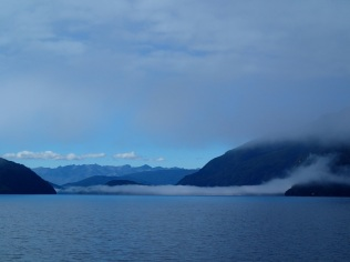 New Zealand is 'the land of the great white cloud' … I guess we have found the cloud chilling in Lake Manapouri:-)