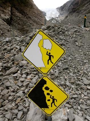 falling ice … falling rocks. Potato … potato.