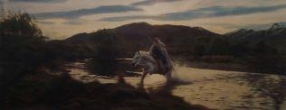 Gandalf enters into Gondor (movie)
