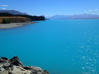 Lake Pukaki with Mount Cook on the horizon