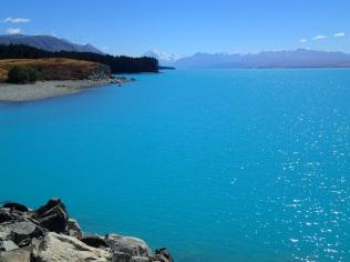 Lake Pukaki with Mount Cook on the horizon