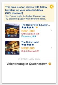 Queenstown booking