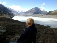 Bea at Tasman Glacier Lake