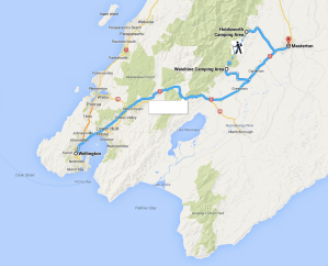 Waiohine Gorge route
