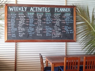 our weekly activities schedule … strictly optional of course :-)