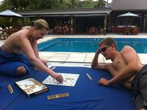How about a round of Scrabble! (two masterminds going at it)