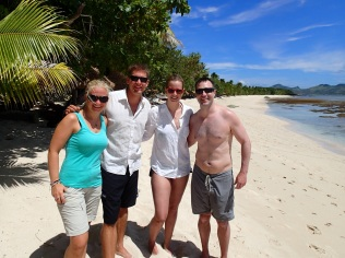 Together with Merritt and Steve … ready for a kayak-snorkelling trip at the reef