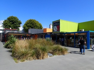 Re:START shopping centre built out of shipping containers in the middle of the city