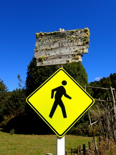 Who are they kidding? There's no one to cross the road in Whangamomona!