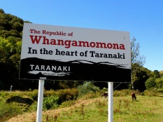 Whangamomona new city sign