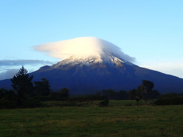 Mount Taranaki with cloud beanie