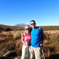Mount Ruhapehu in bright sunshine