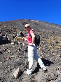 Bea tackling the volcano