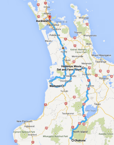 Ohakune to Auckland