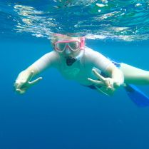 exercise of the day: snorkelling :-)