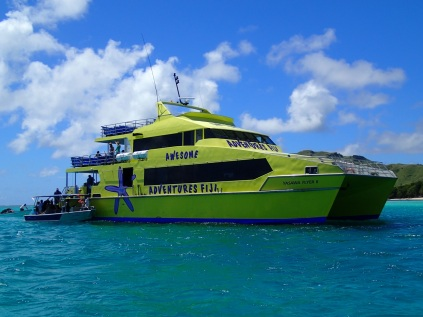 The Yasawa Flyer is servicing the beautiful Mamanuka and Yasawa Islands in the West of Fiji