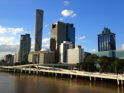 Brisbane South Bank skyline