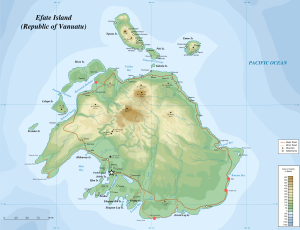 Efate map