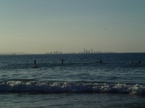 Brisbane's skyline on the horizon
