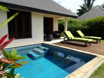 … or in your private plunge pool :-)