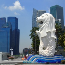 The Merlion is Singapore's mythical national mascot.